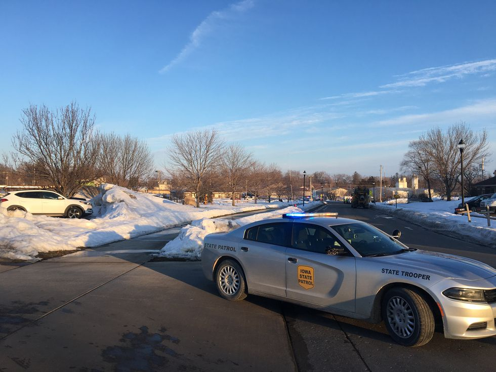 Officials say North Liberty Police are engaged in a standoff with a man who has barricaded...