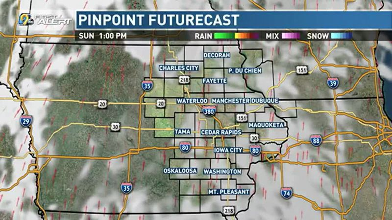 A few more clouds and some more wind for Sunday.