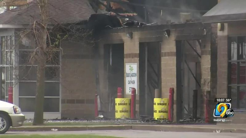 Investigators determine fire at Blue Lagoon Carwash in Cedar Rapids was accidental