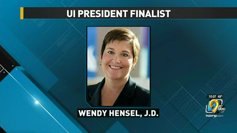 The University of Iowa named the third of its four finalists in the running to be the...