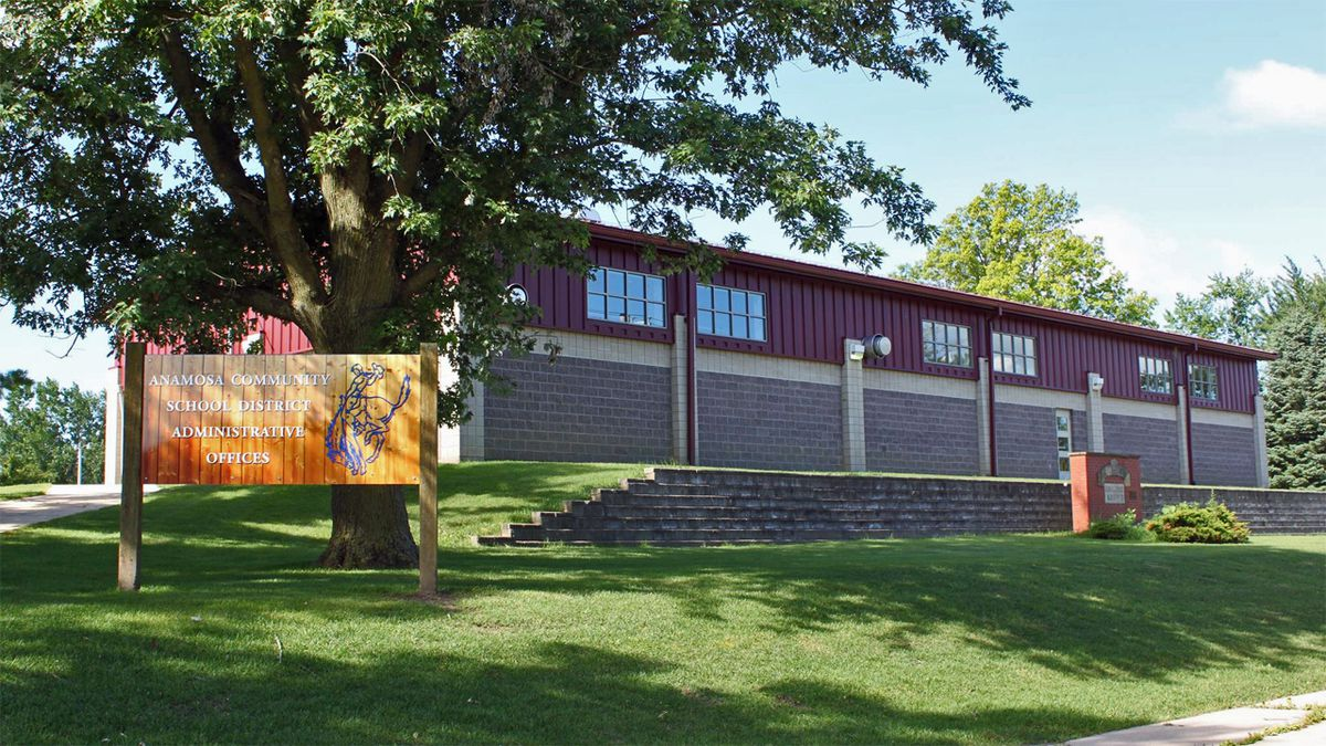 The Anamosa Community School District administrative office building.