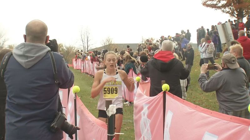 Hundreds of runners were trying to qualify for the state cross country meet in Class 4A and 3A...