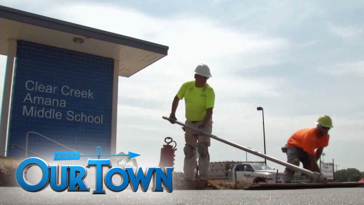 The Clear Creek-Amana School District continues construction on new buildings in response to...