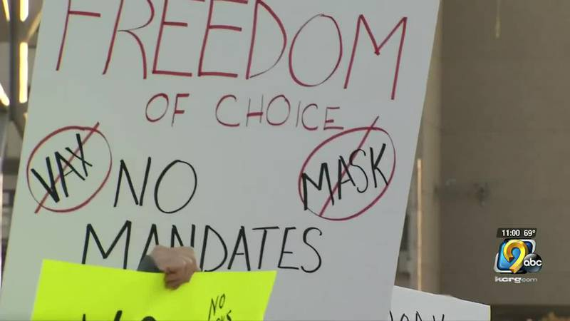 Around 40 people gathered in downtown Cedar Rapids to protest school mask mandates Thursday...