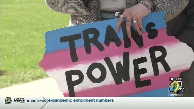 Transgender Day of Visibility Rally held in Iowa City