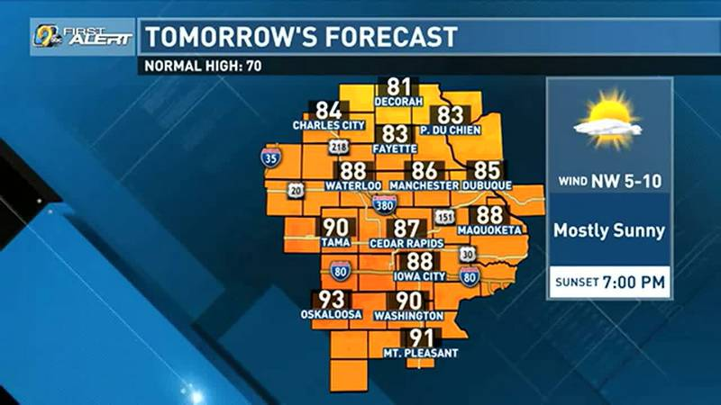 Sunshine and southerly winds warmed us up quickly on Sunday, and that warm air looks to...