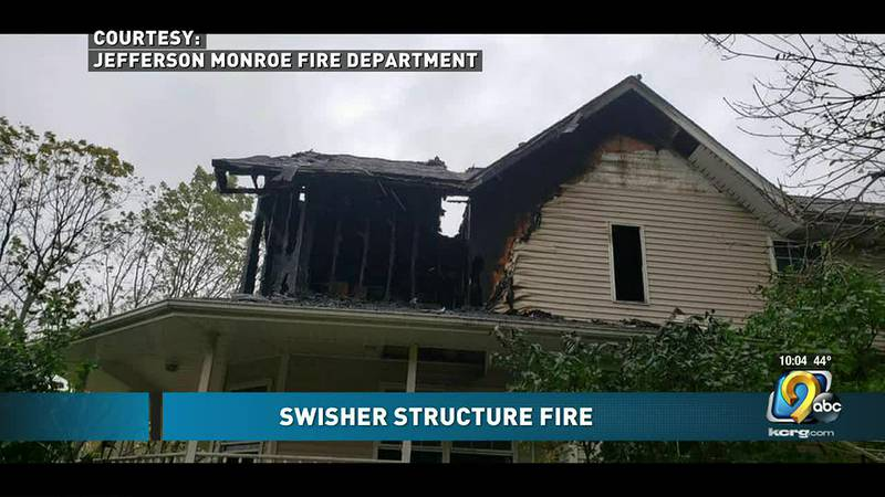 Home in Swisher damaged from a fire