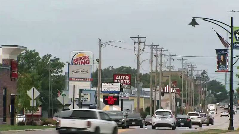 Businesses line Seventh Avenue in Marion.