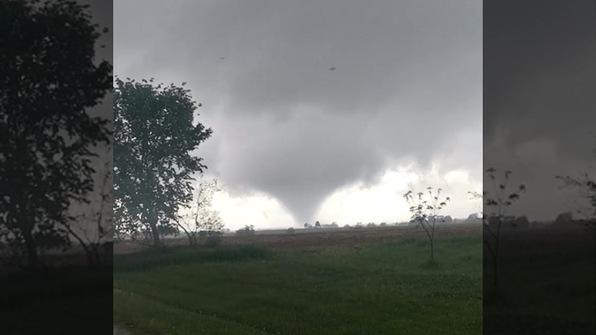 Tornado near Morse, Iowa, on Saturday, May 23, 2020. (Submitted to KCRG YouNews by Jeff...