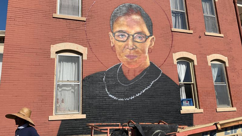 The artist said he wants to honor Justice Ginsburg because of her fight for women and...
