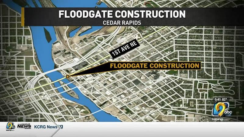 Cedar Rapids flood mitigation project