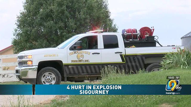 4 hurt in explosion in Sigourney