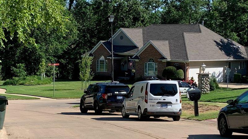 Police work the scene of a shooting on Oak Leaf Court NE in Cedar Rapids on Tuesday, June 15,...