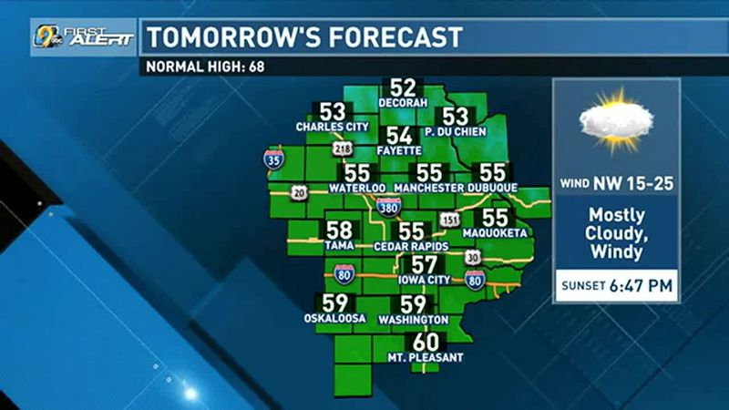 Windy and cool Thursday ahead.