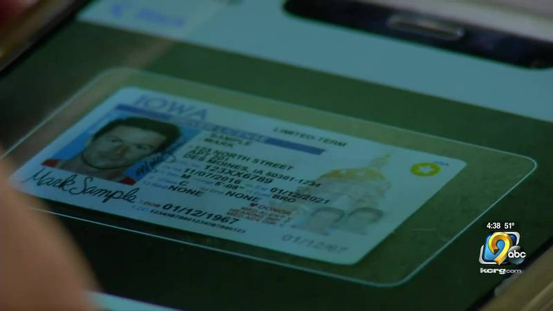 The Iowa DOT is developing an app that will allow people to access their identification cards...