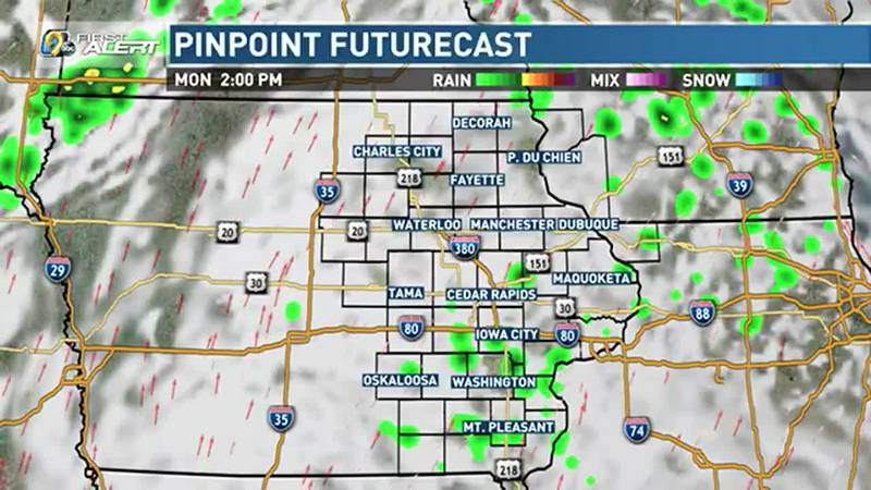 We continue to keep chances for spotty showers and thunderstorms in the forecast as we start...