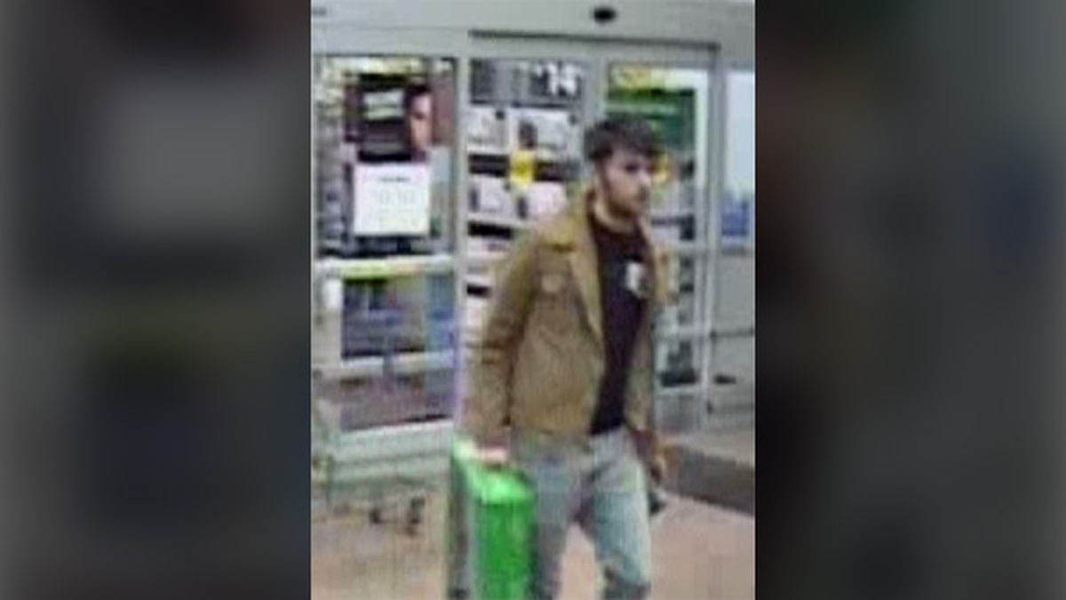 An image from a surveillance camera at a Walmart store in Dubuque, located at 4200 Dodge Street, on Tuesday, Nov. 19, 2019. Dubuque Police believe that this man may have shoplifted merchandise from the store (Courtesy: Dubuque Police Department)