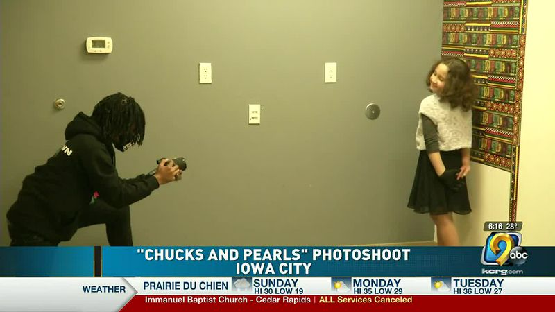 """""""Chucks and Pearls"""" photoshoot in Iowa City to celebrate Black History Month"""