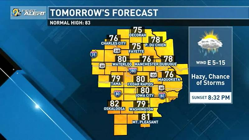 The temperatures and dew points take a tumble Friday and through the weekend and it will feel...