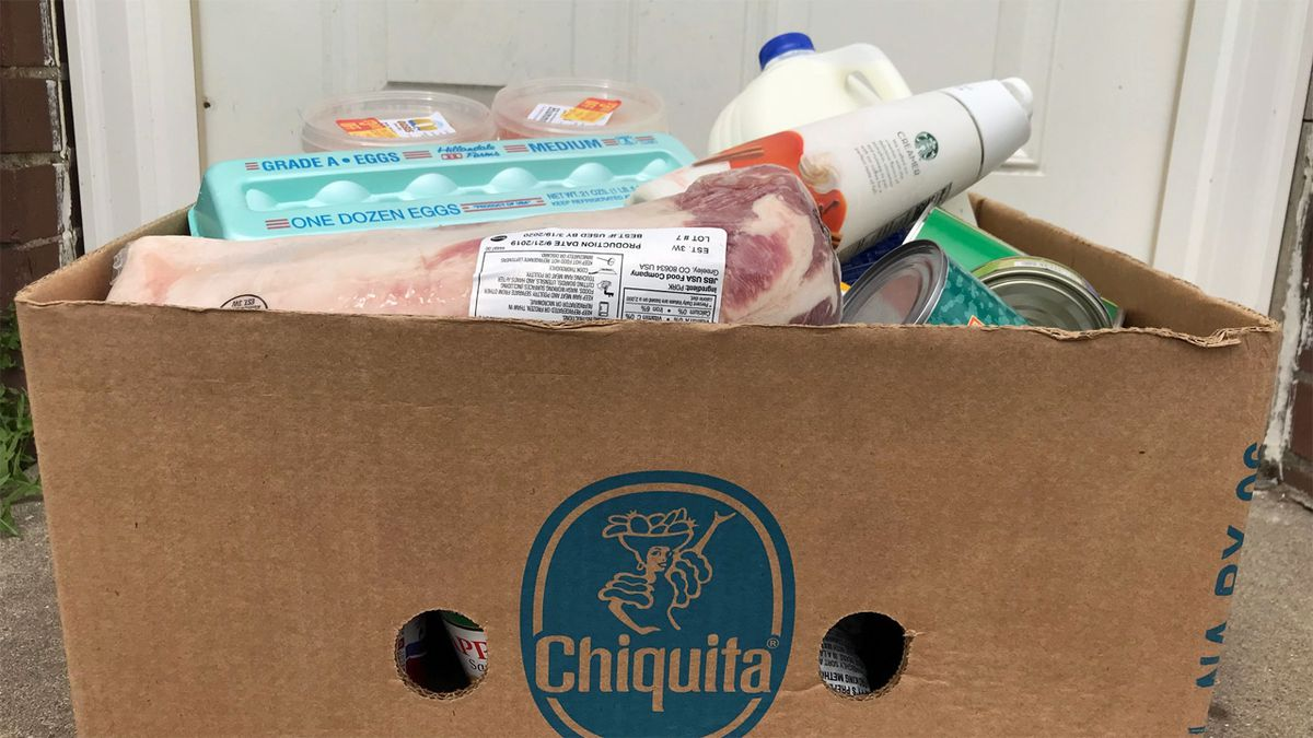 A box of food offered through Matthew 25's Pantry Pickup Project (Courtesy: Bridget Williams)