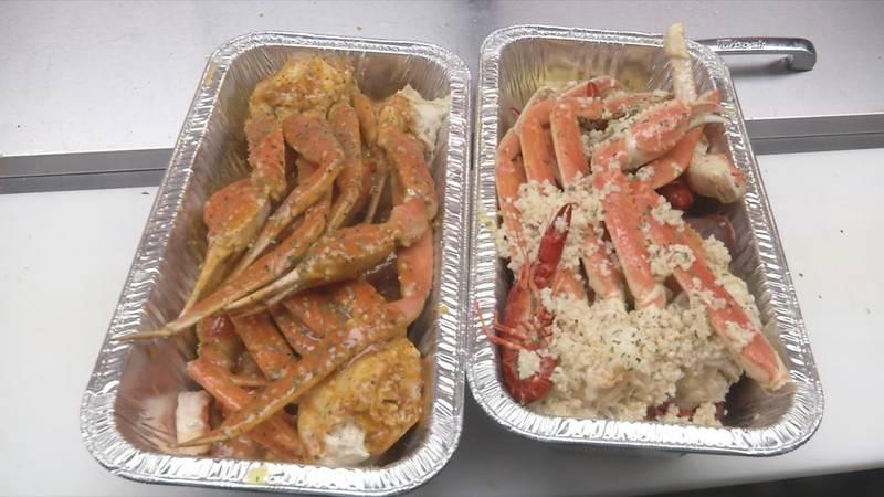 Crab Attack food