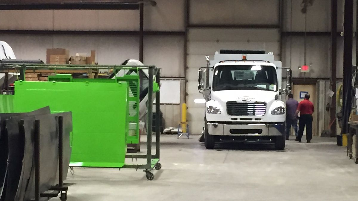 Curbtender, Inc. in Cedar Falls has a new name with a re-brand but the enhanced mission of manufacturing vehicles - the trucks and sweepers - for trash and recycling.