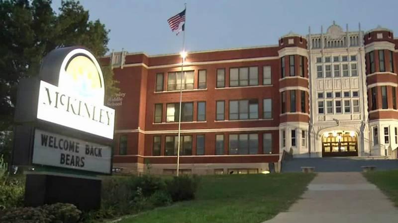 The exterior of McKinley STEAM Academy in Cedar Rapids.