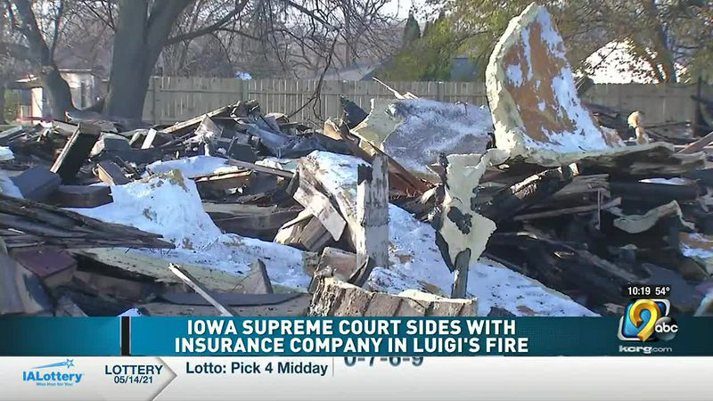 Iowa Supreme Court sides with insurance company over fire claim at Oelwein restaurant