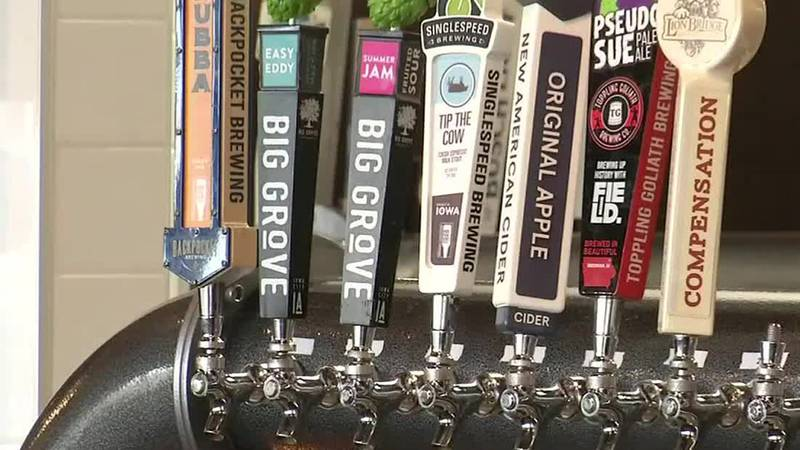 New Iowa law allows for home delivery of alcohol from restaurants, bars, grocery stores.