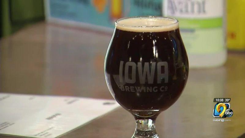 Iowa Brewing Company glass