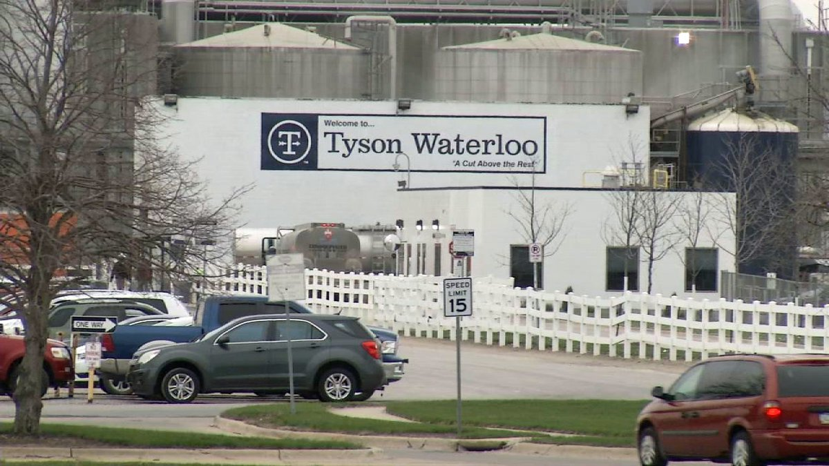 The Tyson Foods processing plant in Waterloo on Thursday, April 16, 2020. (Brian Tabick/KCRG)