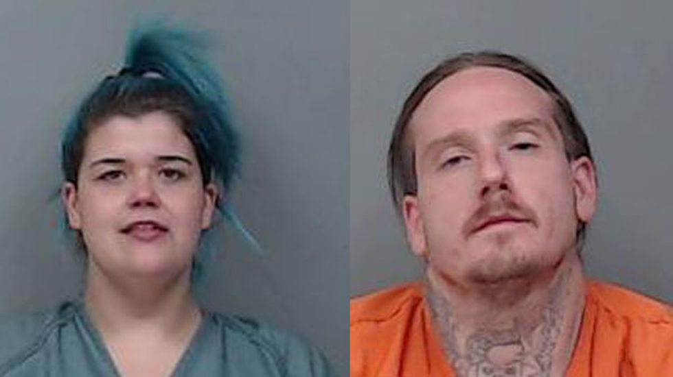 32- year-old Steven Esparza (right) and 27-year-old Jessica Morris (left) were arrested on...