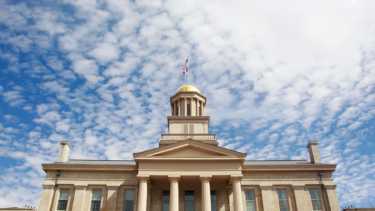 The Old Capitol building is shown in Iowa City on Monday, March 30, 2015. (Adam Wesley/The Gazette)