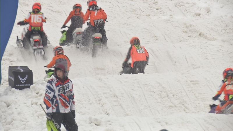 Annual snowmobile competition in Dubuque