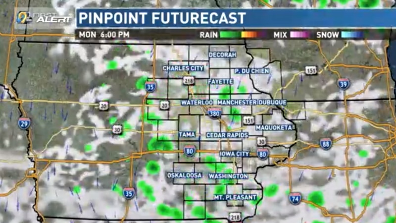 A quiet week is setting up for our weather with a mix of sun and clouds most days and...