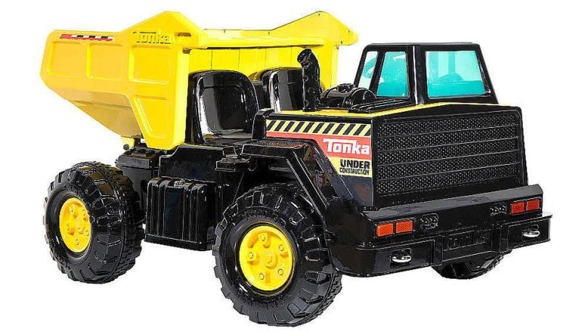 A Washington state couple say the Tonka electric ride-on dump truck they bought burst into...