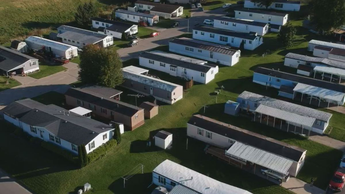 The Table Mound Mobile Home Park in Dubuque County on October 14, 2019. (Charlie Grant, KCRG)