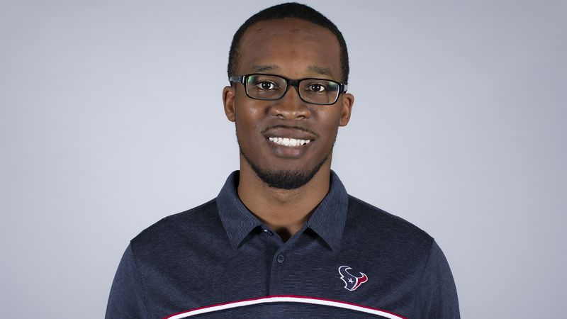 This is a 2020 photo of Deon Broomfield of the Houston Texans NFL football team. This image...