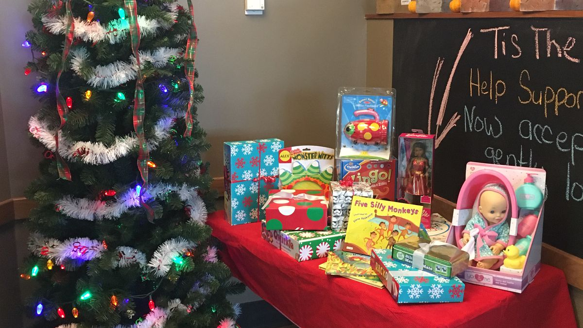 The North Dodge Hy-Vee in Iowa City is collecting toys for a drive, which started Nov. 3, 2019. (MARY GREEN/KCRG)