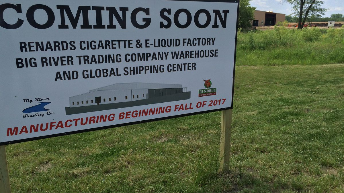 The site of a new warehouse and manufacturing facility for Meskwaki, Inc.  It's part of a tribal effort to diversify into new businesses.
