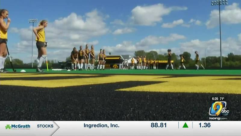 "Hawkeye field hockey builds the ""great wall of Iowa"""