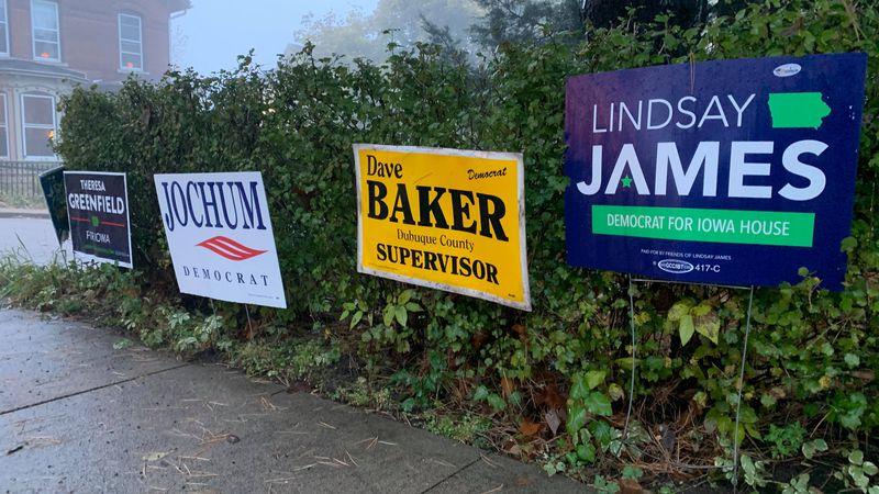David Cochran, Politics professor at Loras College, said political yard signs could influence...