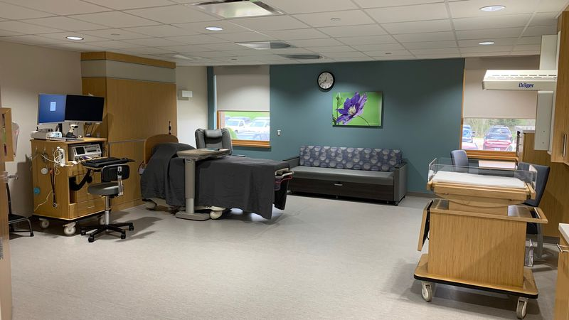 A room in the new obstetrics unit at Regional Medical Center in Manchester, pictured April 21,...