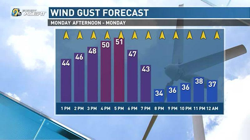 Gusty winds