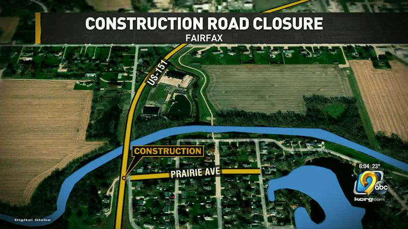 Train tracks and construction cut off part of Fairfax