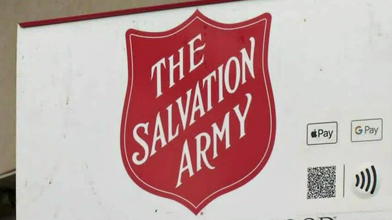 A sign for The Salvation Army's Red Kettle Campaign.