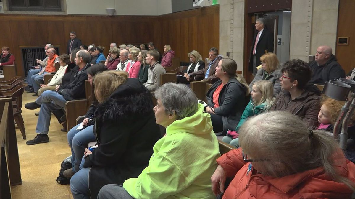 A packed chamber heard from citizens on whether or not pets should be more friendly in Dubuque on Tuesday, January 14th, 2020. (MAGGIE WEDLAKE/KCRG)