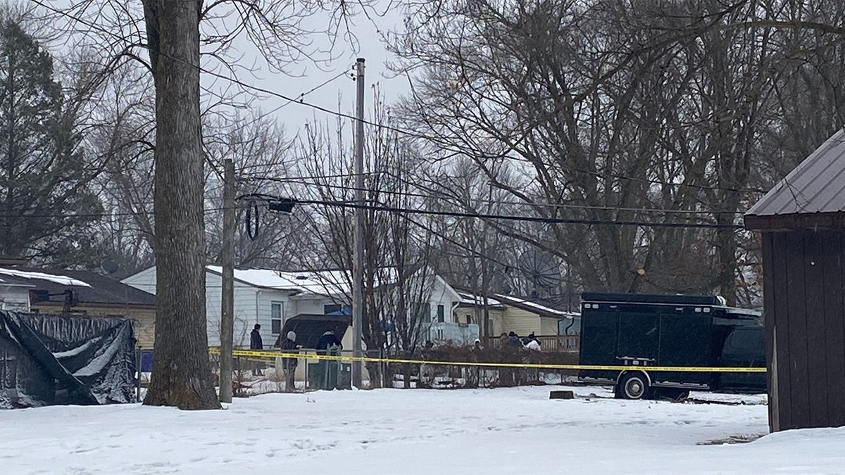 An investigation underway at a home in northwest Cedar Rapids on Wednesday, February 12, 2020. (KCRG)
