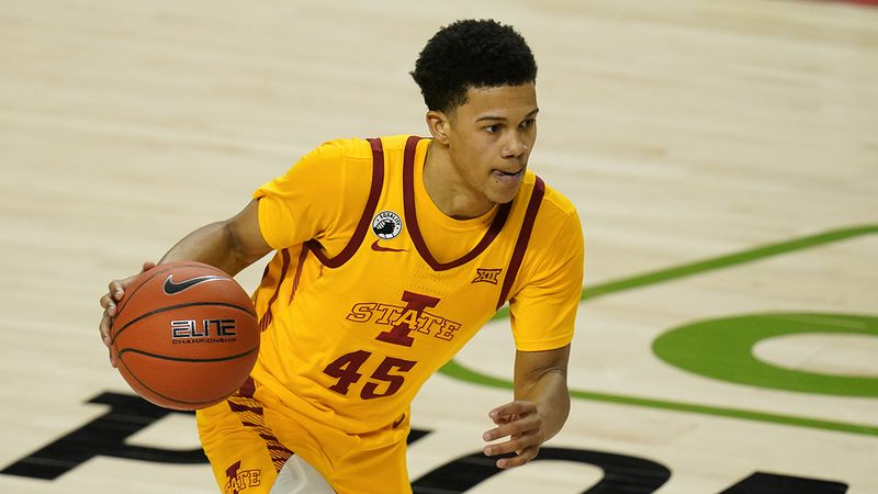 Iowa State guard Rasir Bolton during the second half of an NCAA college basketball game against...