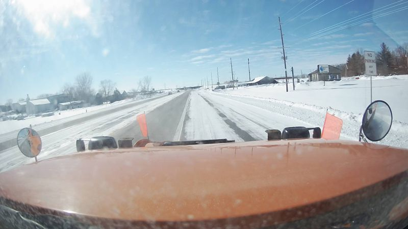 Image from an Iowa DOT plow camera on Iowa 22 near Highway 218, south of Iowa City on February...